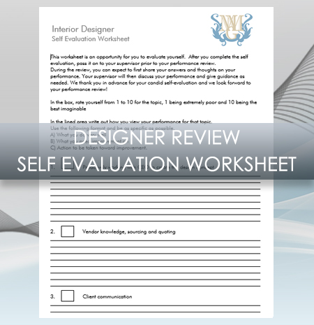Interior Design Business Designer Review Self Evaluation Worksheet