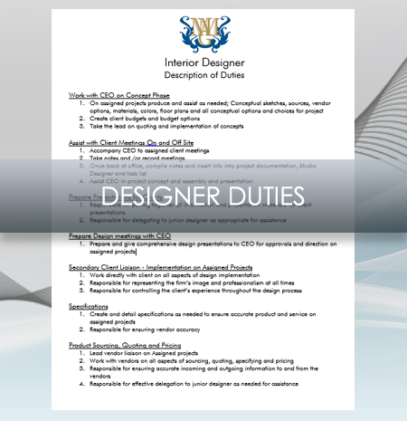 Interior Design Business Designer Job Description